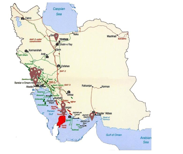 map iran ofogh